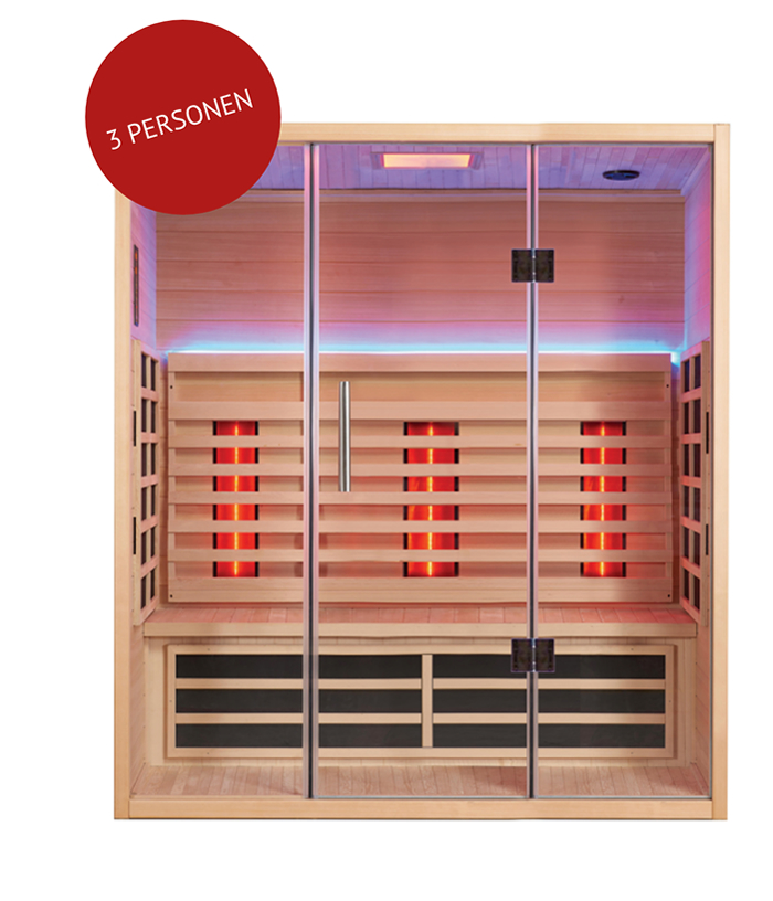 infrarood sauna SUMUM TRIA in Oost-Vlaanderen